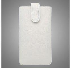 Univerzálna kožená vsuvka, XL, biela