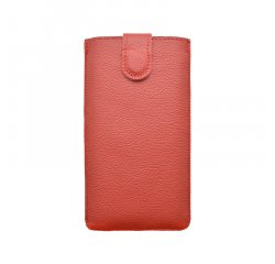 Univerzálne kožené puzdro 4XL, červené