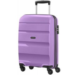 SAMSONITE CABIN SPINNER AT 85A12001 BONAIR STRICT S 55 4WHEELS LUGG, LILAC 85A-12-001