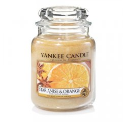 YANKEE CANDLE 1521066E SVIECKA STAR ANISE AND ORANGE/STREDNA