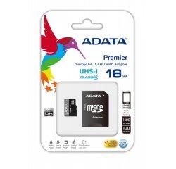 ADATA MICRO SDHC 16GB CLASS 10 PAMATOVA KARTA + ADAPTER AUSDH16GUICL10-RA1