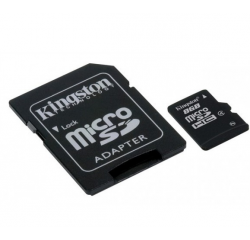 KINGSTON MICRO SDHC 8GB CLASS 4+ADAPTER SDC4/8GB