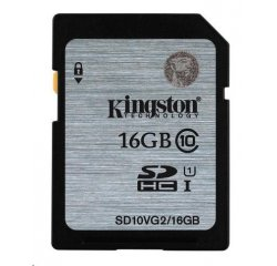 KINGSTON SDHC 16GB CLASS10 45MB/S SD10VG2/16GB
