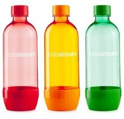 SODASTREAM FLASA TRIPACK 1L ORANGE/GREEN/RED