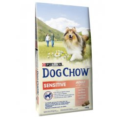 PURINA DOG CHOW SENSITIVE SALMON + RICE 14KG