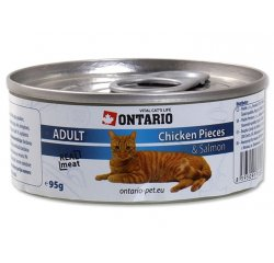 ONTARIO KONZERVA CHICKEN PIECES + SALMON 95 G (213-2002)