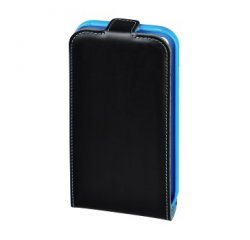 HAMA 127416 GUARD CASE MOBILE PHONE WINDOW CASE FOR APPLE IPHONE 4/4S, BLACK/BLUE