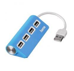 HAMA 12179 USB 2.0 HUB 1:4, BUS POWERED, MODRY
