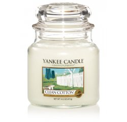 YANKEE CANDLE 1010729 SVIECKA CLEAN COTTON/STREDNA