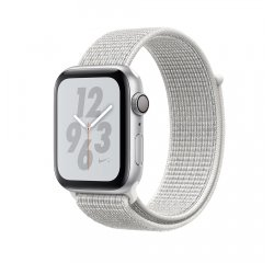 APPLE WATCH SERIES 4 NIKE+ GPS 44MM SILVER ALUMINUM CASE WITH SUMMIT WHITE NIKE SPORT LOOP MU7H2HC/A vystavený kus