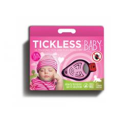 TICKLESS BABY ULTRAZVUKOVY REPELENT PROTI KLIESTOM RUZOVY /7022401/