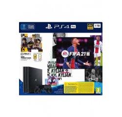 PLAYSTATION 4 PRO 1TB + FIFA 21 + 2X DUALSHOCK 4 CIERNA + internetová televízia SledovanieTV na dva mesiace v hodnote 11,98 €