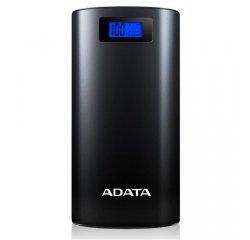 A-DATA P20000D POWER BANK 20000MAH, LED SVIETIDLO, CIERNA, AP20000D-DGT-5V-CBK