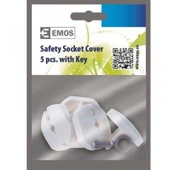 EMOS A9000 BEZPECNOSTNA KRYTKA DO ZASUVKY 5KS + KLUC