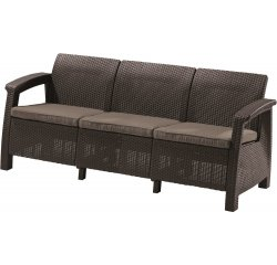 ALLIBERT /223207/ POHOVKA CORFU II MAX LOVE SEAT BROWN + BEIGE