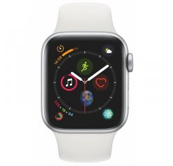 APPLE WATCH SERIES 4 GPS, 40MM SILVER ALUMINUM CASE WITH WHITE SPORT BAND, MU642VR/A vystavený kus