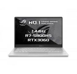 ASUS ROG ZEPHYRUS G14 GA401QM-HZ059T 15.6 FHD 144HZ R7/16GB/512GB/RTX3060-6GB BIELY + ZÍSKAJTE ZÁRUKU PROTI NÁHODNÉMU POŠKODENIU