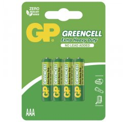 GP BATERIE GREENCELL AAA, 4KS BLISTER, B1211