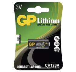 GP LITHIOVA FOTOBATERIA CR 123A, 1KS BLISTER, B1501