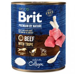 BRIT PREMIUM BY NATURE BEEF WITH TRIPES 800 G (294-100320)
