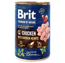 BRIT PREMIUM BY NATURE CHICKEN WITH HEARTS 400 G (294-100315)