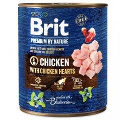 BRIT PREMIUM BY NATURE CHICKEN WITH HEARTS 800 G (294-100316)