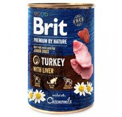 BRIT PREMIUM BY NATURE TURKEY WITH LIVER 400 G (294-100317)