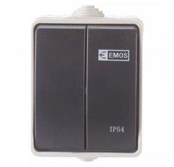 EMOS A1398.1 PREPINAC NASTENNY C.5 IP54 SEDO-CIERNY
