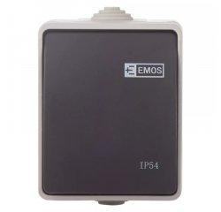 EMOS A1398 PREPINAC NASTENNY C.1,6 IP54 SEDO-CIERNY
