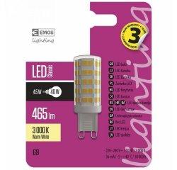 EMOS LED ZAROVKA JC, 4.5W/40W G9, WW TEPLA BILA, 465 LM, CLASSIC A++ 1525736202