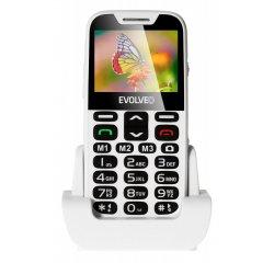 EVOLVEO EASYPHONE XD, MOBILNY TELEFON PRE SENIORY S NABIJACIM STOJANOM BIELA EP-600-XDW