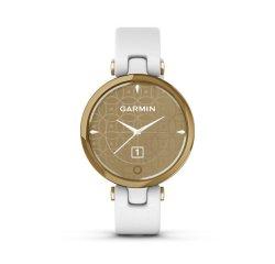 GARMIN LILY, CLASSIC, GOLD/WHITE, ITALIAN LEATHER 010-02384-B3