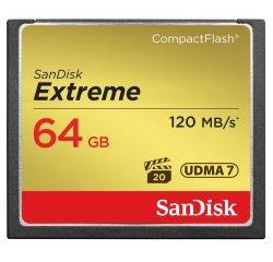 HAMA 124094 SANDISK EXTREME CF 64 GB 120 MB/S ZAPIS 85 MB/S UDMA7