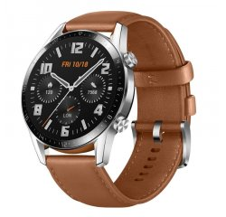 HUAWEI WATCH GT 2 CLASSIC, 46MM BROWN LEATHER STRAP