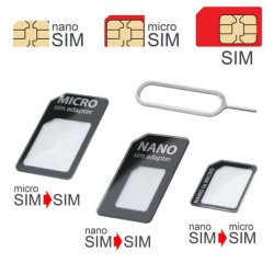 MOBILNET AD-SIM-3V1-02 SIM ADAPTER UNI 3 V 1, CIERNY
