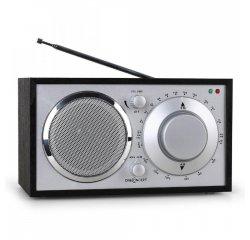 ONECONCEPT LAUSANNE-BL, CIERNE, RETRO RADIO, FM, AUX, 10008634 - 3 ROČNÁ ZÁRUKA
