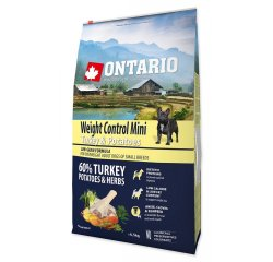 ONTARIO DOG MINI WEIGHT CONTROL TURKEY & POTATOES(6,5KG)