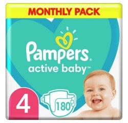 PAMPERS ACTIVE BABY S4 180KS, 9-14KG