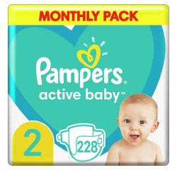 PAMPERS ACTIVITY BABY 52 228KS, 4-8KG