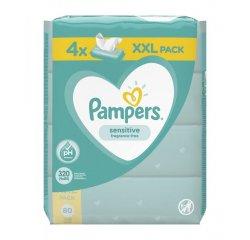 PAMPERS WIPES 320KS (4X80) SENSITIVE