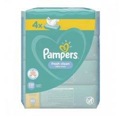 PAMPERS WIPES 320KS (4X80) FRESH CLEAN