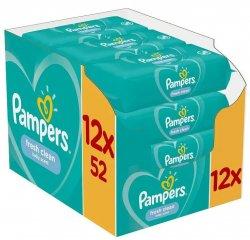 PAMPERS WIPES BOX 624KS (12X52) FRESH CLEAN