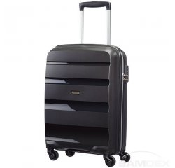 SAMSONITE CABIN UPRIGHT AT SAMSONITE 85A09001 BONAIR STRICT S 55 4WHEELS LUGGAGE, BLACK