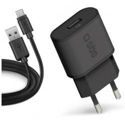 SBS CESTOVNA NABIJACIA SADA USB/MICRO USB 2.0 1000 MA 100/250V CIERNA TETRKITMIC1ASTD