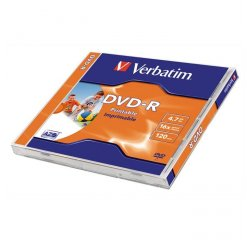 VERBATIM 43520 DVD-R 4.7GB PRINTABLE 1KS