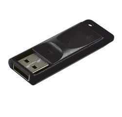 VERBATIM USB FLASH DISK, 2.0, 16GB, SLIDER, STORE N GO, CIERNY, 98696, DH016VESDB20
