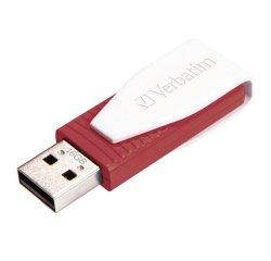 VERBATIM USB FLASH DISK, 2.0, 16GB, SWIVEL, STORE N GO, CERVENY, 42484, DH016VESWPX0
