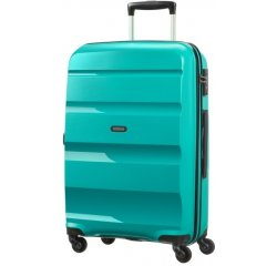 SAMSONITE AMERICAN TOURISTER 85A31002 BONAIR M 66 4WHEELS LUGGAGE, DEEP TURQUOISE 85A-31-002