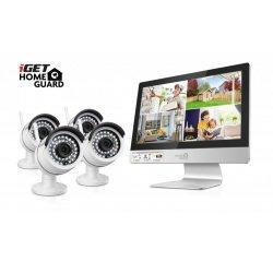 """Kamerový set iGET HOMEGUARD HGNVK49004 WiFi DVR s LCD displejem 12""""+ 4 IP kamery 960p"""