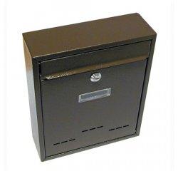 Schránka poštovná RADIM malá 310 x 260 x 90 mm hnedá
